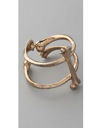 Low Luv by Erin Wasson Vertical Bone Bangle - Lyst