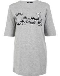 Markus Lupfer Grey Cool Embroidered T-shirt - Lyst