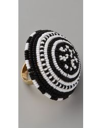 Noir Jewelry - Beaded Cocktail Ring - Lyst