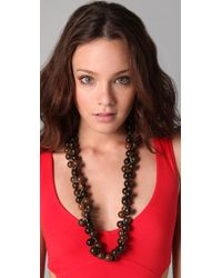 Tuleste - Long Braided Marble Necklace - Lyst
