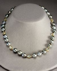 Assael - Tahitian Pearl and Moonstone Strand Necklace - Lyst
