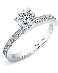 Bony Levy Channel Set Diamond Engagement Ring Setting - Lyst
