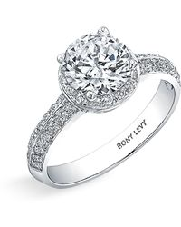 Bony Levy Pave Diamond Engagement Ring Setting white - Lyst