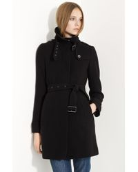 Burberry Brit 'Rushworth' Belted Wool Blend Coat - Lyst