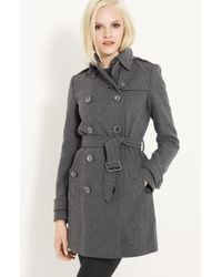 Burberry Brit Double Breasted Wool Trench - Lyst