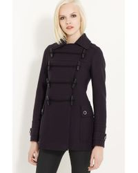 Burberry Brit Toggle Front Coat - Lyst