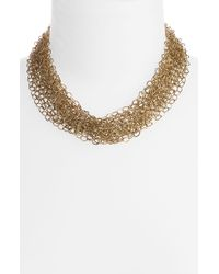 Cara Accessories Multi Row Chain Statement Necklace gold - Lyst