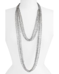 Cara Accessories Multi Row Chain Necklace - Lyst