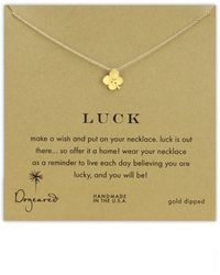 Dogeared 'Luck' Clover Pendant Necklace - Lyst