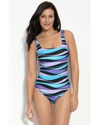 Gottex Print One Piece Swimsuit - Lyst