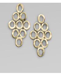 Ippolita Glamazon Sculptural Metal 18K Yellow Gold Open Cascade Earrings gold - Lyst