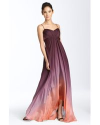 JS Collections Ombré Chiffon Gown - Lyst