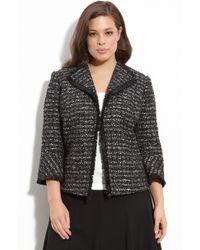 Lafayette 148 New York Crop Tweed Jacket (plus) - Lyst