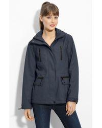 London Fog Hooded Waterproof Jacket - Lyst
