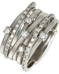 Marco Bicego Goa Seven Band Diamond Ring - Lyst