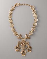 Oscar de la Renta Folkloric-motif Necklace - Lyst