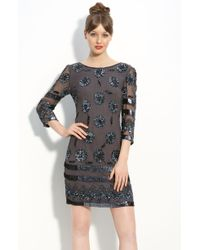 Pisarro Nights Sequin Pattern Sheath Dress - Lyst