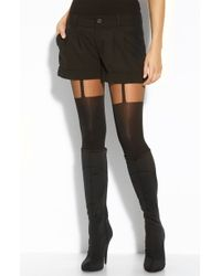 Pretty Polly 'Suspended' Tights black - Lyst