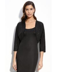 St. John Evening Embellished Fine Gauge Knit Shrug - Lyst