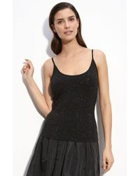 St. John Evening Embellished Jersey Tank - Lyst