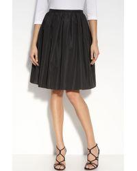 St. John Evening Taffeta Skirt black - Lyst