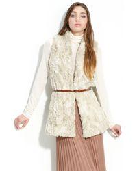 Trouvé Hinge® Faux Fur Belted Vest - Lyst