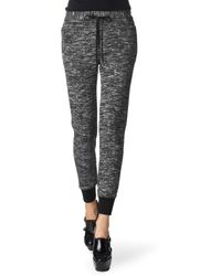3.1 Phillip Lim Space Dye Jersey Track Trousers black - Lyst