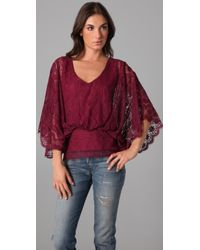 Beyond Vintage - Ruby Lace Top - Lyst