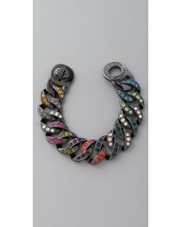 Marc By Marc Jacobs Katie Pave Chain Bracelet, Large - Lyst