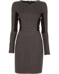 Paul Smith Black Label Long Sleeve Dress - Lyst