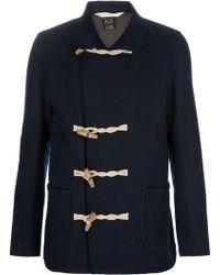 Paul Smith Duffle Coat blue - Lyst