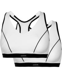 Shock Absorber Pump Set Of Two Padded Sports Bras - White