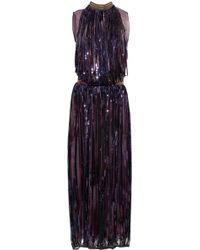 Vionnet Silk-organza and Sequin Gown - Purple