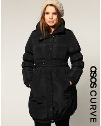 ASOS Collection Asos Curve Belted Quilted Coat - Lyst