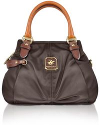 Beverly Hills Polo Club - Nylon and Leather Mini Satchel Bag - Lyst 4ec9c172d7