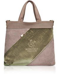 Beverly Hills Polo Club - Velvet Logo Band Flat Tote Bag - Lyst