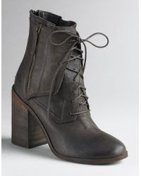Boutique 9 - Saffi Leather Zipper-detail Ankle Boots - Lyst