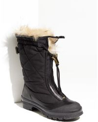 Burberry Genuine Shearling & Rabbit Fur Lined Boot - Lyst
