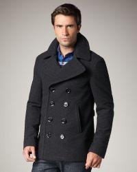 Burberry Brit Short Wool-blend Pea Coat - Lyst