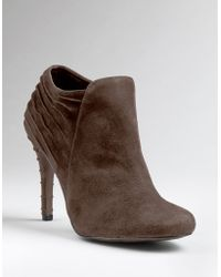 Enzo Angiolini Haver Suede Ankle Booties - Lyst