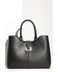 Fendi Chameleon Calfskin Leather Shopper - Lyst