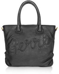 Ferrè Milano - Portocervo - Leather Tote Bag - Lyst