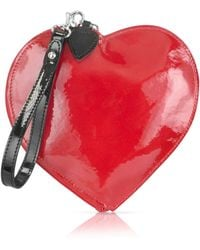 Fontanelli - Patent Leather Heart Coin Purse - Lyst