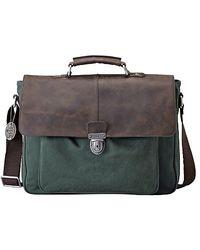Fossil - Dean Messenger Bag Green - Lyst