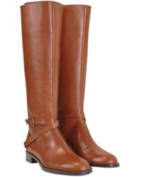 Fratelli Rossetti Magenta - Brown Leather Flat Riding Boots - Lyst
