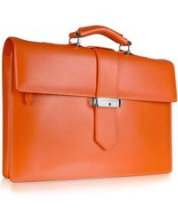 Giorgio Fedon -  Leather Baguette Briefcase - Lyst