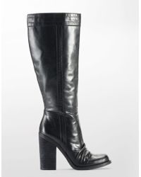 Jessica Simpson Tustiny Tall Leather Boots - Lyst