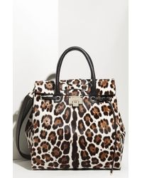 Jimmy Choo Rosabel Leopard Print Calf Hair Satchel - Lyst
