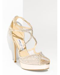 Jimmy Choo Fairview Crystal Embellished Sandal - Lyst
