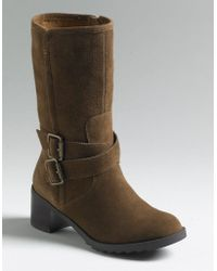 Kenneth Cole Reaction More Please Suede Boots - Lyst